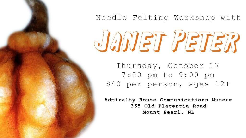 Needle Felting Workshop with Janet Peter