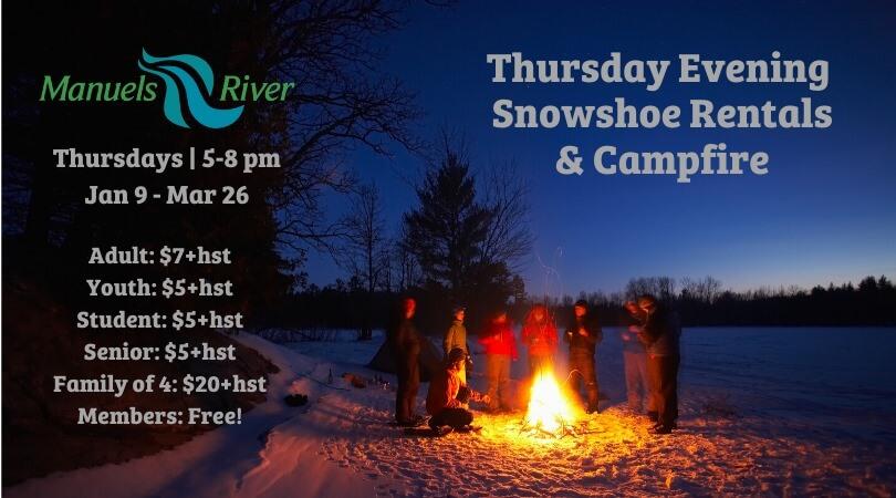Thursday Evening Snowshoe & Campfire
